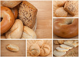 Collage of different types of bread