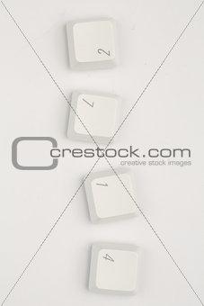 Four keys of number of keyboard