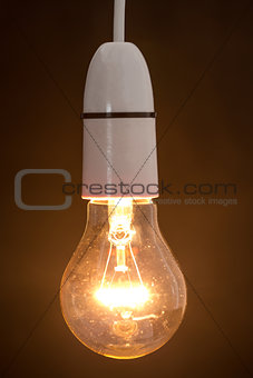 Close up of dazzling light bulb