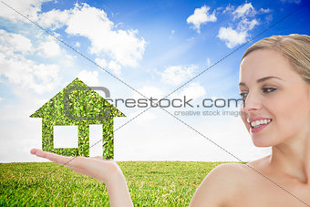 Smiling woman in meadow