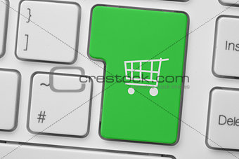 Green trolley button on keyboard