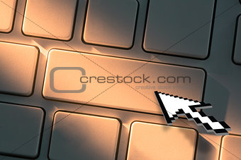 Close up on arrow clicking on keyboard