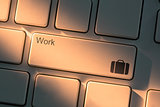 Keyboard with close up on work button