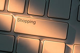Keyboard with close up on shopping button