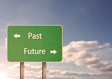 Past and future road sign