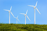 Four turbines on the grass