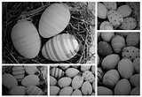 Collage of various pictures of easter eggs