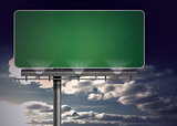 Blank green billboard
