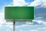 Blank billboard standing over blue sky