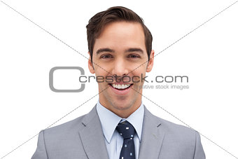 Smiling and young businessman