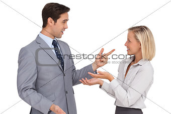 Business people meet each other