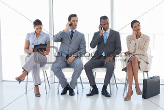 Group of business people in a waiting room