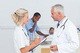 Doctors talking together