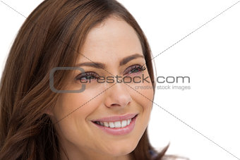 Attractive woman looking at something
