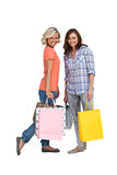 Women holding bags