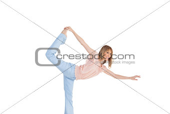 Blonde woman in dance classic position