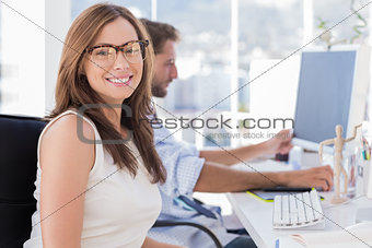 Portrait of smiling designer