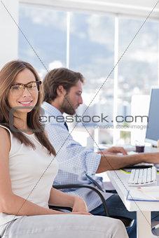 Portrait of attractive designer