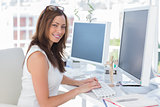 Female designer at her desk