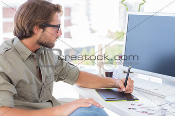 Artist using graphics tablets
