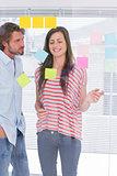 Teamwork brainstorming together