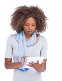 Attractive woman using tablet