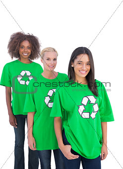 Three smiling enviromental activists