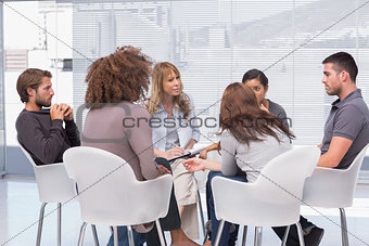 Group therapy in session
