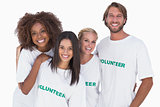 Smiling group of volunteers