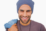 Smiling man wearing beanie hat