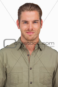 Attractive man smiling at camera