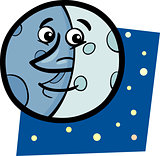 funny moon cartoon illustration