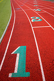 Stadium Running Track Lane Markers Sports Field Number Markings