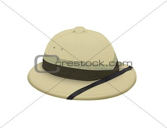 Explorer hat over white