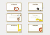 Cute Animal Cartoon Batch Sticker - Back to School 2
