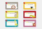Cute Animal Cartoon Batch Sticker - Party Time 2