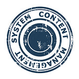 Content Management System concept stamp