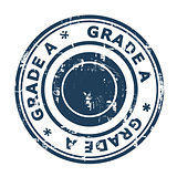Grade A concept stamp