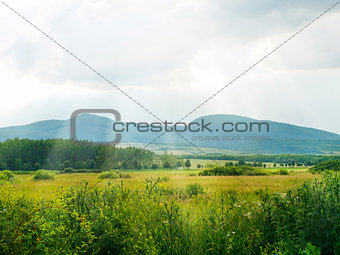 Tokaj Valley With Mountains