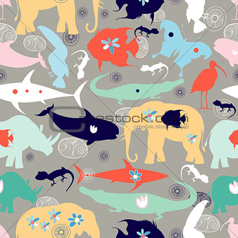 texture of different wild animals