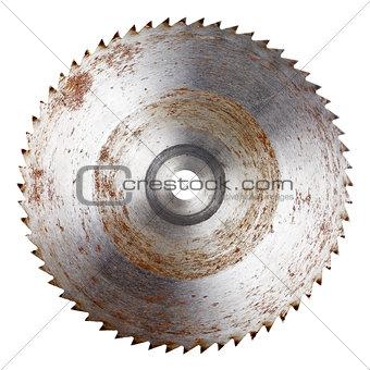 Old circular saw blade