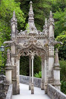 Old European Arhitecture in the park / Quinta da Regaleira Palac