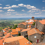 Panorama of mountain european village / Monsanto / Portugal