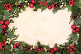 Traditional Christmas Border