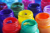 glass paint pots