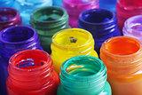 glass paint pots