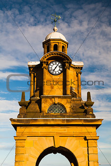 Tower clock in Scarborough