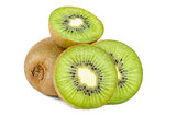 Kiwi Fruit Close Up isolated