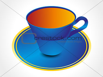 abstract glossy tea cup