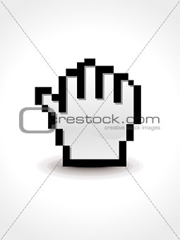 abstract hold hand cursor